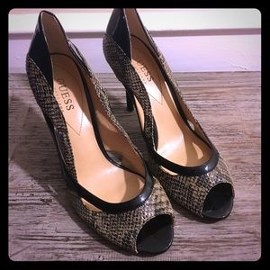 Guess by Marciano Chambery Snakeskin Like Heels